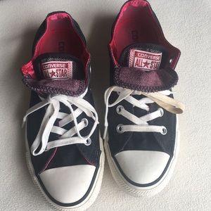 Converse Shoes - Converse double tongue black sneakers sz 6
